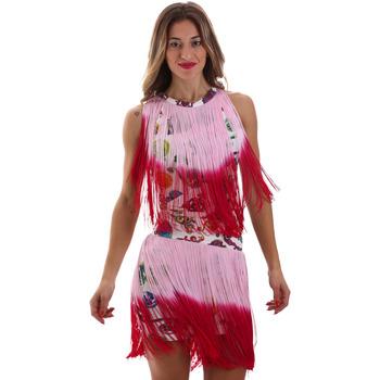 Kleidung Damen Kurze Kleider Versace D2HVB406S0777K67 Weiß