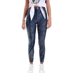 Kleidung Damen Leggings Versace A1HVB009S0684904 Blau