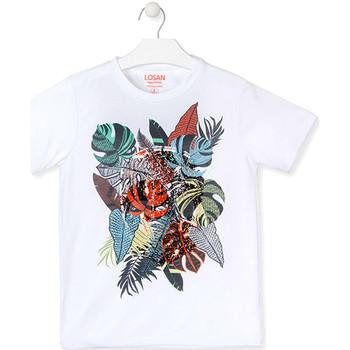 Kleidung Jungen T-Shirts Losan 013-1010AL Weiß