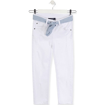 Kleidung Kinder Slim Fit Jeans Losan 014-9011AL Weiß