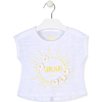 Kleidung Mädchen T-Shirts Losan 016-1006AL Weiß