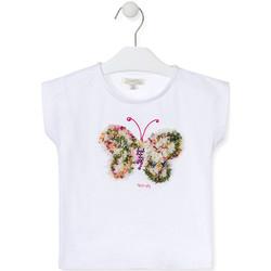 Kleidung Mädchen T-Shirts Losan 016-1790AL Weiß