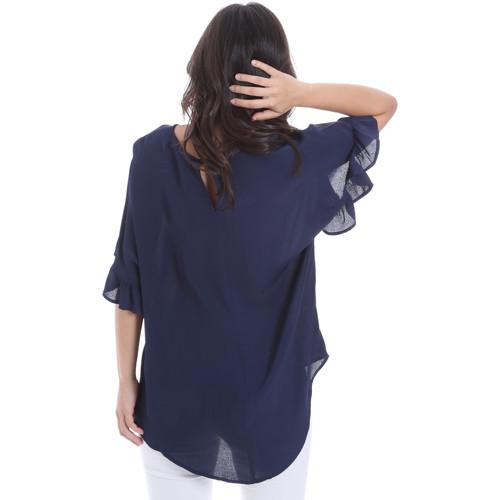 Gaudi 011BD45015 Blau - Kleidung Blusen Damen 4495 QcLhP