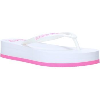 Schuhe Damen Zehensandalen Ea7 Emporio Armani XFQ008 XK085 Weiß