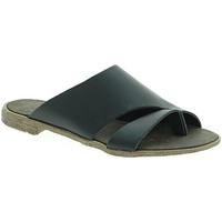 Schuhe Damen Pantoffel 18+ 6120 Schwarz