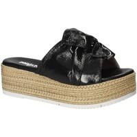 Schuhe Damen Pantoffel Pregunta IL02402-CL Schwarz