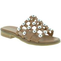 Schuhe Damen Pantoffel Mally 6141 Braun