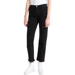Kleidung Damen Boyfriend Jeans Calvin Klein Jeans J20J207108 Schwarz