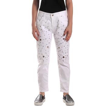 Kleidung Damen Jeans Y Not? 18PEY097 Weiß