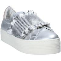Schuhe Damen Slip on Mally 6174 Grau