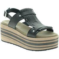 Schuhe Damen Sandalen / Sandaletten Pregunta IBH5804 Schwarz