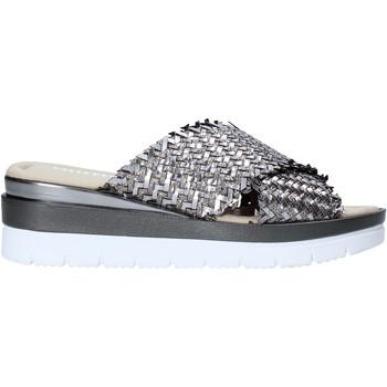 Schuhe Damen Pantoffel Valleverde 32140 Silber