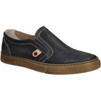 Schuhe Herren Slip on Café Noir QT121 Blau