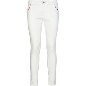 Kleidung Damen Chinohosen Café Noir JP235 Weiß