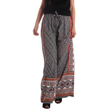 Kleidung Damen Fließende Hosen/ Haremshosen Gaudi 73FD25200 Schwarz