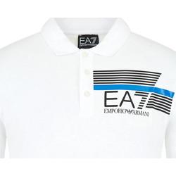 Kleidung Herren Polohemden Ea7 Emporio Armani 3HPF17 PJ02Z Weiß