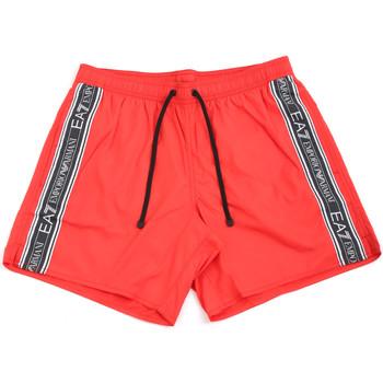 Kleidung Herren Badeanzug /Badeshorts Ea7 Emporio Armani 902000 0P734 Rot