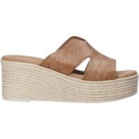 Schuhe Damen Pantoffel Valleverde 34270 Braun