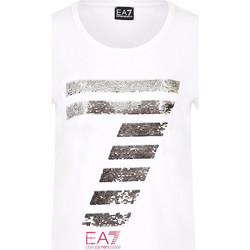 Kleidung Damen T-Shirts Ea7 Emporio Armani 3HTT41 TJ12Z Weiß