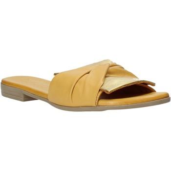 Schuhe Damen Pantoffel Bueno Shoes 9L2735 Gelb