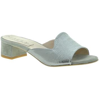 Schuhe Damen Pantoffel Mally 6195 Silber