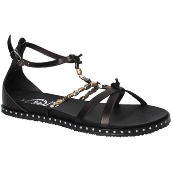 Schuhe Damen Sandalen / Sandaletten 18+ 6140 Schwarz