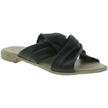 Schuhe Damen Pantoffel 18+ 6113 Schwarz