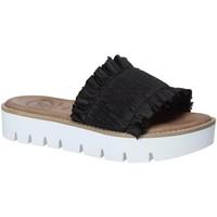 Schuhe Damen Pantoffel 18+ 5812 Schwarz