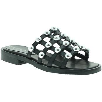 Schuhe Damen Pantoffel Mally 6141 Schwarz