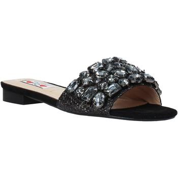 Schuhe Damen Pantoffel Love To Love ALE 183 Schwarz
