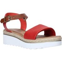 Schuhe Damen Sandalen / Sandaletten Jeiday 1278-9696 Rot