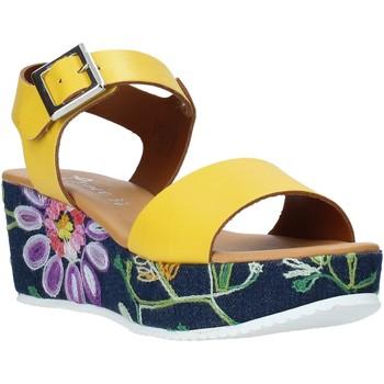 Schuhe Damen Sandalen / Sandaletten Grace Shoes 02 Gelb