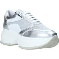 Schuhe Damen Sneaker Low Exton 1575 Silber