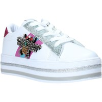 Schuhe Mädchen Sneaker Low Sweet Years S20-SSK416 Weiß