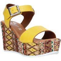 Schuhe Damen Sandalen / Sandaletten Grace Shoes 08 Gelb