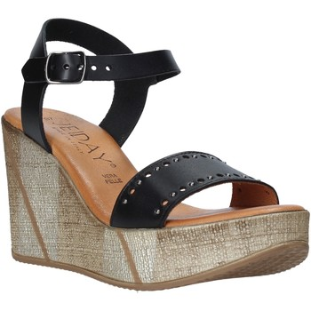 Schuhe Damen Sandalen / Sandaletten Jeiday EVA-Z80M Schwarz