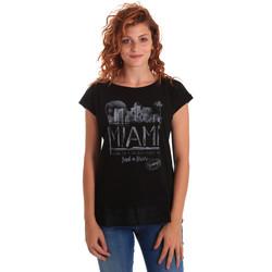 Kleidung Damen T-Shirts Key Up 5Z10S 0001 Schwarz