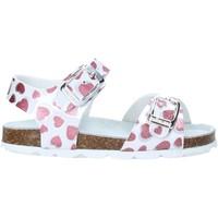 Schuhe Mädchen Sandalen / Sandaletten Grunland SB1535 Weiß