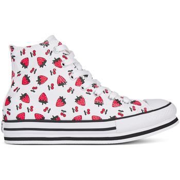 Schuhe Mädchen Sneaker High Converse 668016C Weiß