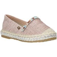 Schuhe Kinder Leinen-Pantoletten mit gefloch Miss Sixty S20-SMS705 Rosa