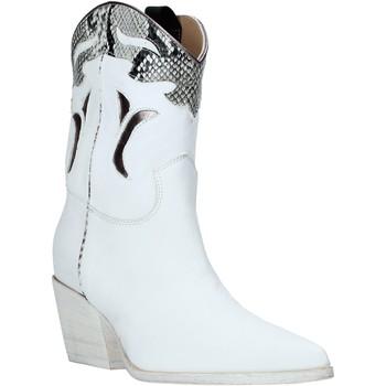 Schuhe Damen Low Boots Mally 6918P Weiß