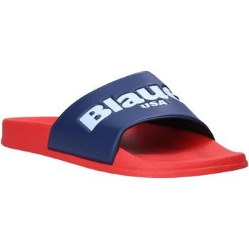 Schuhe Herren Pantoletten Blauer S0BAY02/PUC Rot