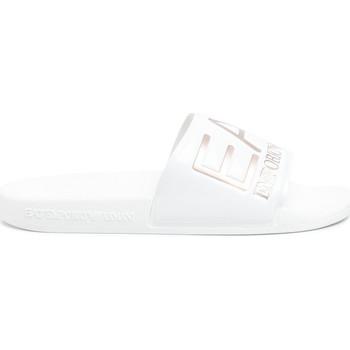 Schuhe Damen Pantoletten Ea7 Emporio Armani XCP001 XCC22 Weiß