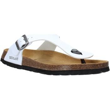 Schuhe Herren Zehensandalen Grunland CB3014 Weiß