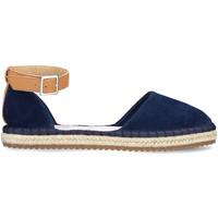 Schuhe Damen Leinen-Pantoletten mit gefloch Docksteps DSE106403 Blau