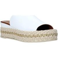 Schuhe Damen Pantoffel Bueno Shoes Q5905 Weiß