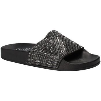 Schuhe Damen Pantoletten Chiara Pacini C18E2506 Schwarz