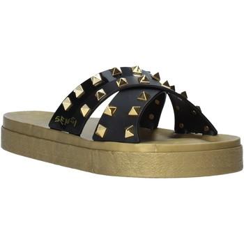 Schuhe Damen Pantoffel Sensi 4390/PY Schwarz