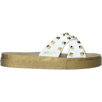 Schuhe Damen Pantoffel Sensi 4390/PY Weiß
