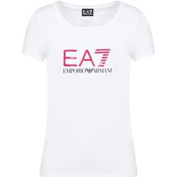 Kleidung Damen T-Shirts Ea7 Emporio Armani 8NTT63 TJ12Z Weiß